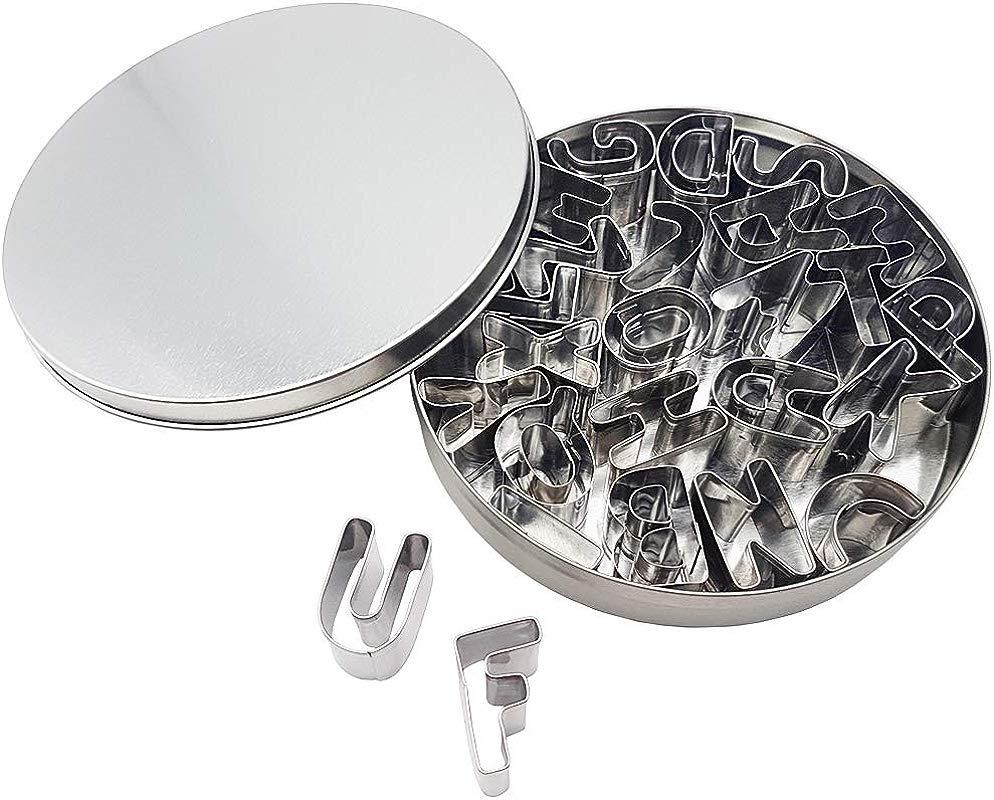 Kanntie Alphabet Cookie Cutter Set A Z 26 Piece Premium Stainless Steel