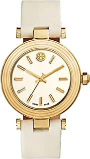 Tory Burch Women's White Leather Band Watch - TRB9000