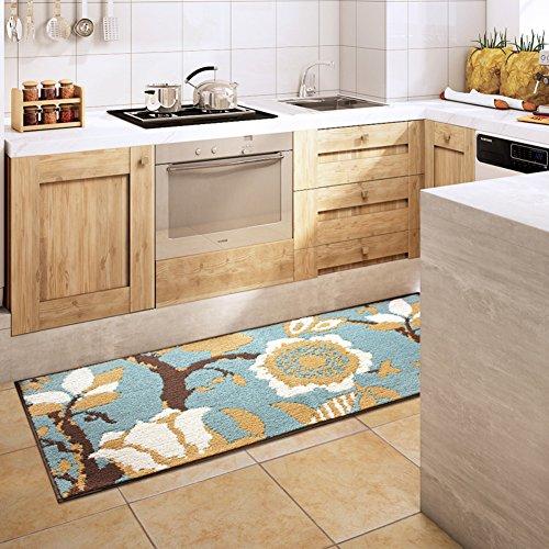 RR&LL Floor Mat Doormat Door,Entrance,Water-absorbing Mats Kitchen,Hall,Kapok Cushion Bathroom,Non-slip Mat-A 80x110cm(31x43inch)