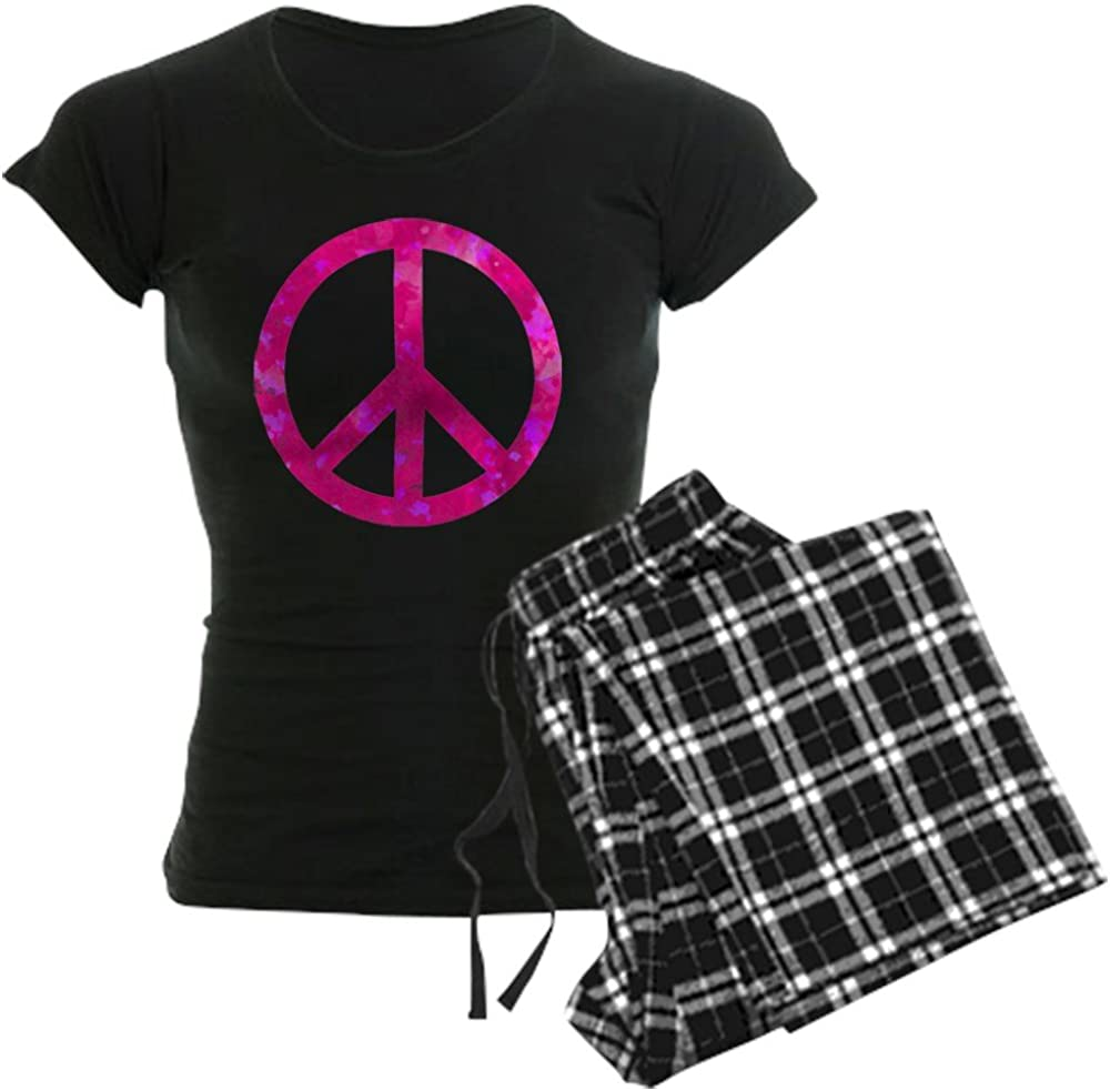 CafePress Distressed Pink Max 43% OFF Challenge the lowest price Peace PJs Sign Women's