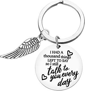 Memorial Keychain Sympathy Gift Loss of Loved One Keychain I Had A Thousand Things Left To Say So I Still Talk To You Ever...