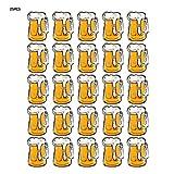 HEEPDD Broche LED, 25 Piezas de Vidrio de Cerveza de Navidad Pin de Placa Luminosa LED Suministros de Fiesta Oscuros para Halloween Navidad Niños Adultos Juguetes Regalo