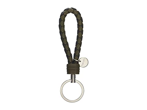 Bottega Veneta Intrecciato Bicolor Key Ring