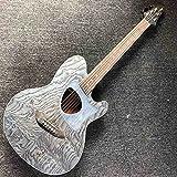 YYYSHOPP Guitarra Spruce sólido de Madera de Ceniza Top Guitarra acústica Personalizada Spruce sólido Cedar Top Top 41 Pulgadas Guitarra acústica (Size : 40 Inches)