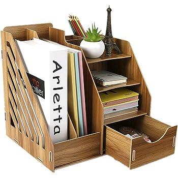 Organizador de escritorio de madera, organizador de escritorio ...
