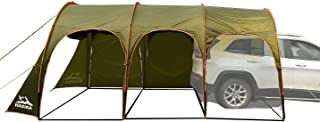 Family Camping Tunnel Tent Top Canopy Cover for Car Trailer BBQ Waterproof Portable 8-10 Person 15x10ft