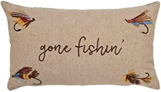 Mud Pie Retreat Home Patio Decor Fishing Lure Rectangular Pillow with Zipper 41600158G