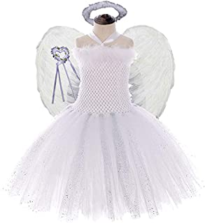 Girls Princess Fairy Costume with Wings 4PCS Set