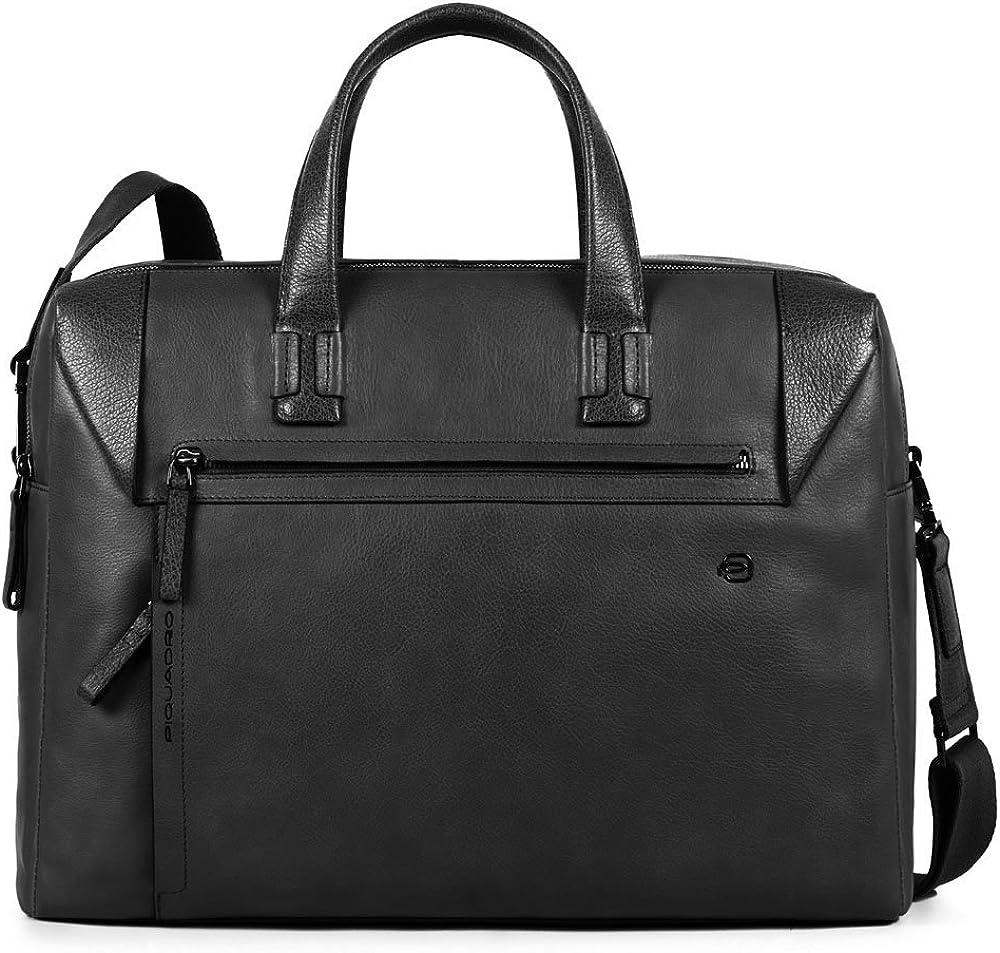 Piquadro, borsa, cartella porta pc portatile, 100% vera pelle CA4256S94/B