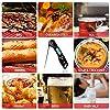 DOQAUS Thermomètre Cuisine, 3s Lecture instantané Thermomètre Cuisson, Thermomètre Viande, avec Écran LCD RétroÉclairage, Sonde Pliable pour Cuisson, Viande, BBQ, Steak, Huile, Lait, Vin (Noir) #3