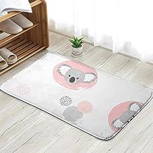 Cute Koala Circles Animals Wildlife Doormat Entrance Mat Floor Mat Rug Indoor/Front Door/Bathroom/Kitchen and Living Room/...