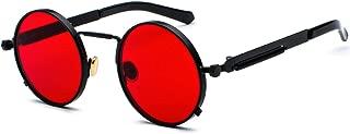 Gafas de Sol Redondas Ronda Marco de Metal Eyewear Círculo Espejo Gafas UV400 Para Hombres y Mujeres
