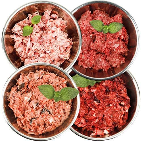 Barf-Snack Rohfutter für Hunde & Katzen Sparpaket 28kg mit Rind, Ente, Kaninchen & Fisch Frostfutter/Gefrierfutter