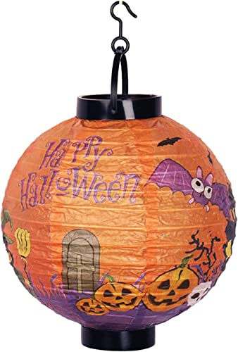 2021 Halloween Paper Lanterns - Scary Halloween Lantern high quality with LED LightHoliday Party Home Decor - Halloween Hanging Lanterns for Outdoor Yard Decorations(Pumpkin, popular B) online sale