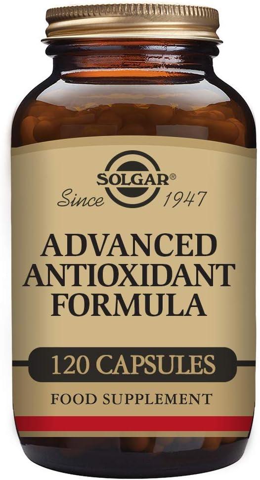 Solgar   Fórmula Antioxidante Avanzada de Vitaminas, Minerales y Fitonutrientes   Protege a las Células Contra el Daño Oxidativo Diario   120 cápsulas Vegetales