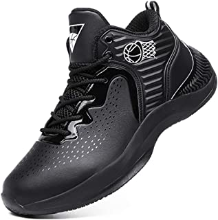 Yong Ding Men Basketball Shoes Comfort Low Top Leather Upper Athletic Sneakers for Running Trekking and Playing Ball