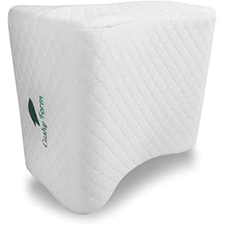 Huggaroo Pillow for Knees BlueLow Back Pain Relief for Side Sleepers