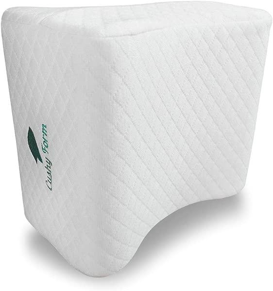 轻松舒适的膝枕侧枕坐骨神经疼痛腿枕头最好的怀孕坐骨神经痛臀部背部和脊柱排列记忆泡沫矫形轮廓楔套可拆洗