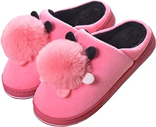 Zapatillas de Estar por Casa Mujer Zapatillas de Invierno Interior Pantuflas Antideslizantes CáLido Zapatos de Dormitorio ...