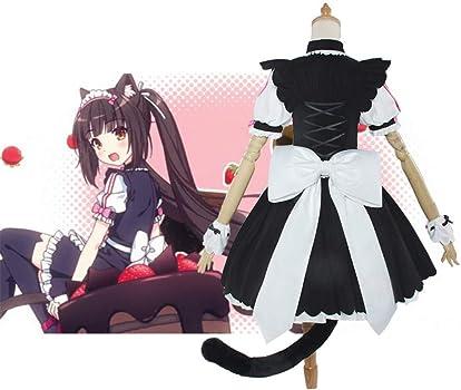 Furry cartoon cat girls in lingerie Amazon Com Nekopara Anime Cosplay Women Full Set Cat Girl Maid Servant Dress Lolita Dress Vanilla Chocola Cosplay Costume Dress Clothing Shoes Jewelry