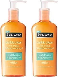 Neutrogena Visibly 透明防* oelfreies waschgel | 利施的 waschgel 适用于的脸*由 unreinheiten & mitessern | 2 x 200毫升