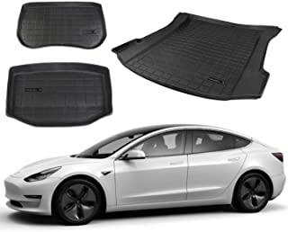 All Weather Floor Mats /& Custom Fit Eco-Friendly Heavy Duty Rubber Odorless Model 3 Accessories 1 Piece for Year 2020-2021 DESLE TPE Material Tesla Model 3 Trunk Mat,Model 3 Full Cover 3D Mat