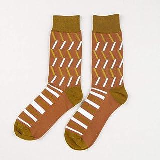 Calcetines De Hombre Calcetines De Color De Algodón para Pareja Tide Calcetines De Algodón De Compresión Casual para Hombre Talla Estadounidense (5-9)