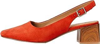 Amazon Brand - find. Square Toe Block Heel Slingback, Women's Closed Toe Heels