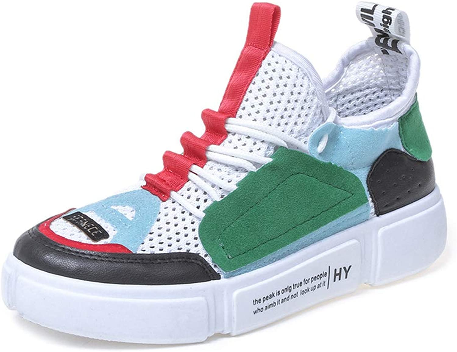 T-JULY Women's Off-White Platform Autumn Wedge Plate Sneakers Girls Runway Breathable shoes
