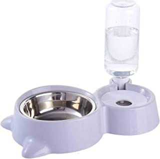 ANTOLE Automatic Water Dispenser Double Dog Bowl Cat Feeding Station Stainless Steel Water and Food Bowls Quality Dog Bowl...