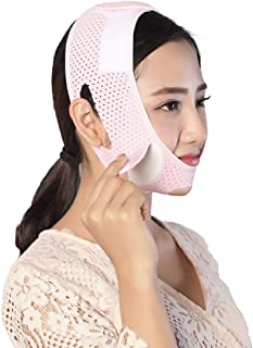Jia Jia- フェイシャルリフティング痩身ベルト - 圧縮二重あご減量ベルトスキンケア薄い顔包帯 顔面包帯