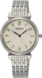 SEIKO Women's Quartz Watch, Analog Display and Stainless Steel Strap SFQ801P1