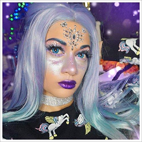 FunkOn Face Gem/Rave Festival Rhinestone Make up/Face Sticker Jewelled Headpiece-/All In One Stick On Bindi Tattoo/Body Art Glitter Face Jewels/tattoo