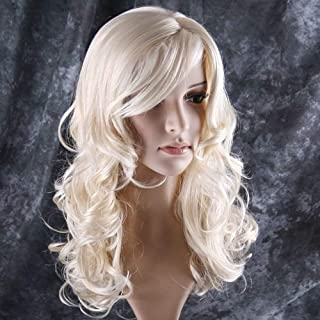 "BERON 24"" Stylish Long Curly Blonde Hair Wig Party Perruque (Blonde)"