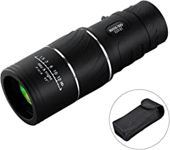 16x52 Monocular Dual Focus Optics Zoom Telescope, Day & Low Night Vision, for Birds Watching/Wildlife/Hunting/Camping/Hiking/Tourism/Armoring/Live Concert 66m/ 8000m