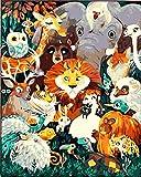 Kits de pintura por números para manualidades de lienzo con pinceles de pintura y pigmentos 6321 El mago de Oz