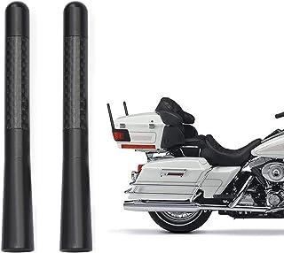 Bingfu Antena de antena de fibra de carbono para motocicleta de substituição de antena de motocicleta, pacote com 2 compat...