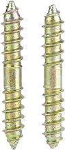 Schroef 10 stks 6 * 40 mm zink plating ijzer deuvel schroef houtbewerking meubels connector gewrichten dubbele beëindigde ...