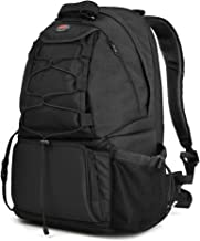 """Camera Bag Backpack Waterproof Large DSLR Camera Bag with 15.6"""" Laptop Compartments Rain Cover Outdoor Travel Camera Backpack Case for Nikon Canon Sony Pentax DSLR/SLR Cameras,Tripod and Accessories"""