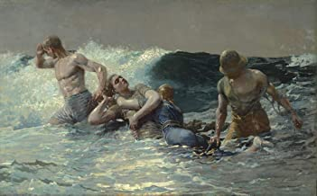Winslow Homer Giclee Art Paper Print Art Works Paintings Poster Reproduction(Undertow) #XZZ