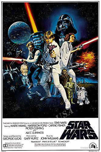 "PremiumPrints - Star Wars Original Episode IV A New Hope Movie Poster Glossy Finish Made in USA - FIL328 (24"" x 36"" (61cm x 91.5cm))"