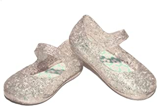 Clear Jelly Sandals Shoes Girls Infant Toddler Mary Jane Style Glitter sz 3