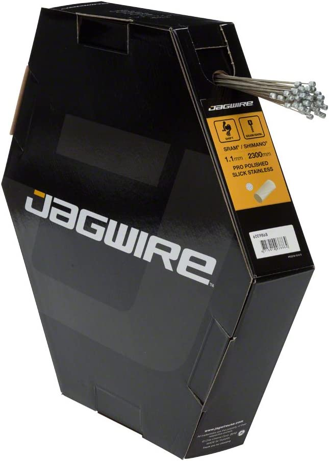 safety Jagwire Pro Polished Slick Stainless Cable Derailleur New product! New type 1.1 Box 50