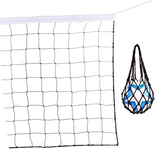DHAO Volleyball Net Portable Ball Net Bag and Sports Net for Volleyball Tennis Badminton at Beach Swimming Pool Garden Schoolyard Backyard Indoor and Outdoor(32 FT x 3 FT, Volleyball not Included)