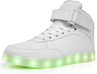LED Light Up Shoes High top Sneakers Flashing Dancing...
