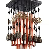 Outdoor Indoor 28 Metal Tube Wind Chime with Copper Bell Large Windchimes for Patio Garden Terrace With Free...
