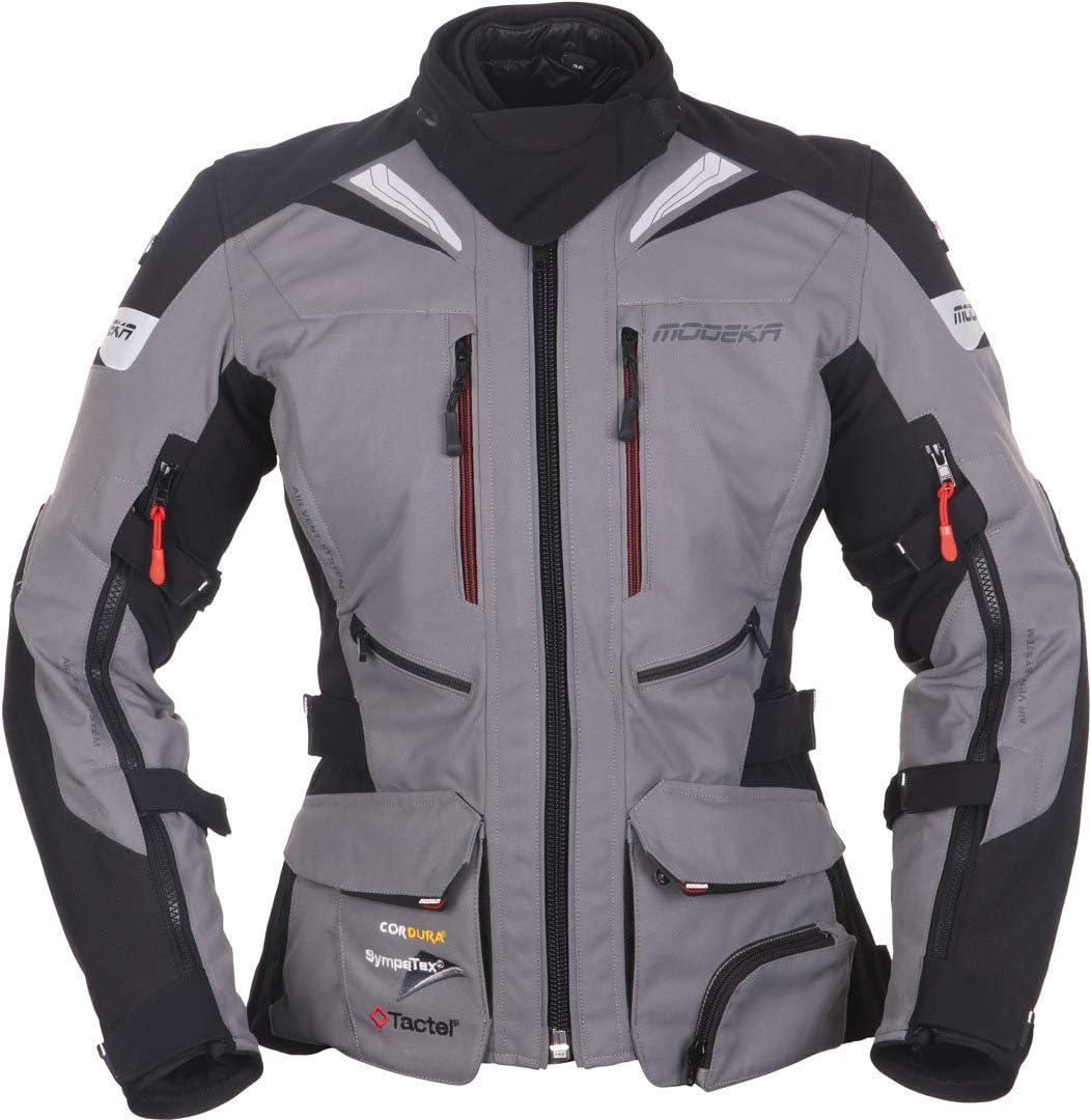 Modeka Panamericana Damen Motorrad Textiljacke Grau Schwarz 36 Auto