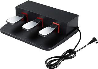 ATNEDCVH 3 pédales pour clavier piano numérique, 3 pédales compatibles avec Yamaha DGX640, DGX650, DGX660, KBP500, KBP100...