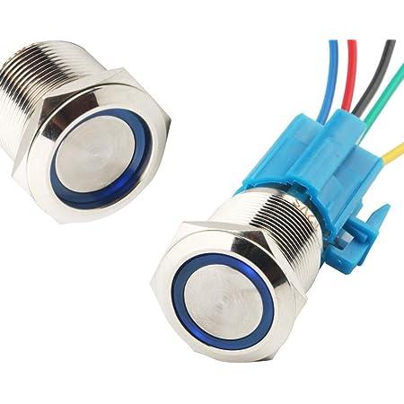 Cesfonjer Led Illuminated Push Button Led Metal Pressure Switch Ip67 Led Button Led Push Button For
