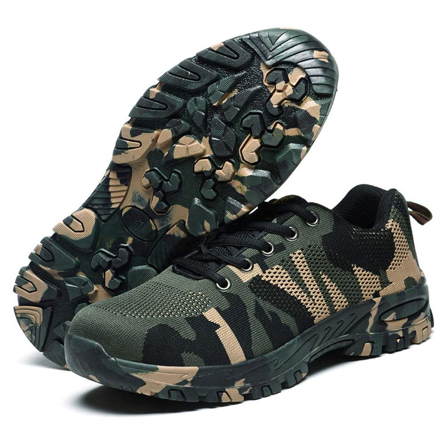 ラフレシアアルノルディくるみガイド[AcMeer] 迷彩 作業靴 安全靴 カモフラ メンズ 先芯入り セーフティーシューズ 労働保険靴 アウトドアシューズ レースアップ 通気 耐摩耗 防刺 耐滑